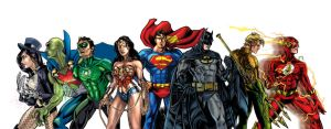 JLA poster so far by timothylaskey