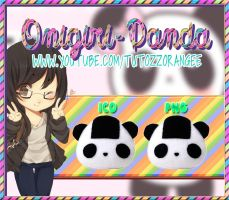 Oni-Panda Icono y PNG by TutozzOrangee