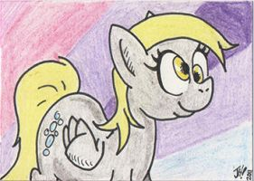 Derpy Hooves sketch card by PlummyPress