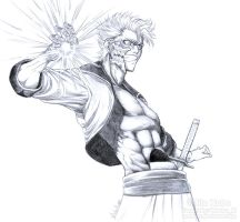 Grimmjow Jeagerjaques Sketch by Washu-M