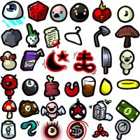 A Bunch of Isaac Items by TKSaint