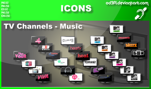 TV Channel Icons - Music by od3f1
