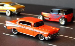 1957 Chevy - Traffic Jam 1 by RufusInk2011