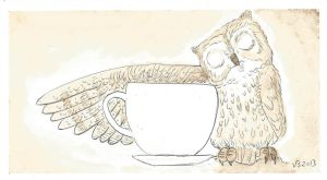 Owl Coffee Love by vonnbriggs