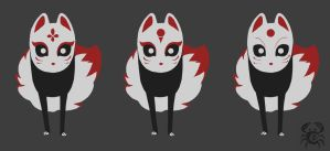 Kitsune_character variation by MoonLightRose17
