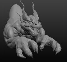 Dragon Model by MikeBourbeauArt