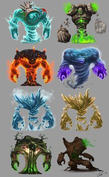 elementals_golems by d1sk1ss