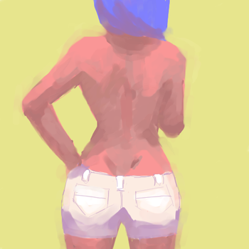 white shorts by indierobot