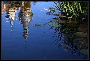 Minarets Reflection on Pond by tyt2000