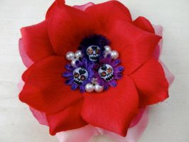 Day of The dead Hair flower by ArteDeMiFamilia