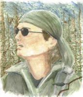 Daniel Jackson in Watercolor by lynxypoo