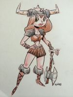 SketchBomb - New Delhi #2 : Female Viking by kshiraj