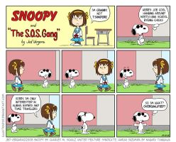 Snoopy and the S.O.S. Gang by illustrador