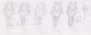 Character Concept Art - Dev Sketches 2 by BLWells