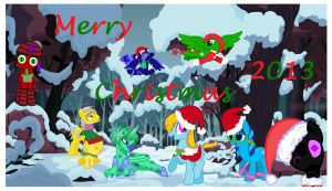 Merry Christmas And Happy Hearth's Warming Eve! by PinkysunTransformice
