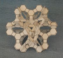 Extended Crown Cuboctahedron 2010 (paper) by albertpcarpenter