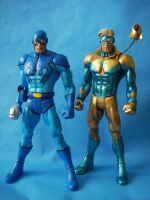 Custom Booster Gold and Blue Beetle Team Up by cusT0M