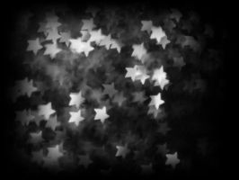 Star Bokeh black and white by bluezircon-graphics