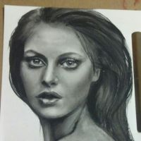 Pretty charcoal lady by stef-g