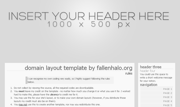 Domain Layout Template by FallennHalo
