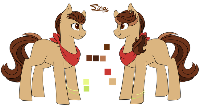 Ponysona Sina [Redesign] by Cloud-Drawings