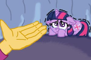 Don't be scared Twilight, it's me. by sonicfan1345