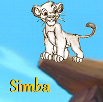 Simba on Pride Rock by Creepyland