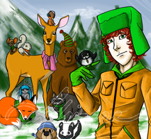 Kyle and the Woodland Critters by SUCHanARTIST13