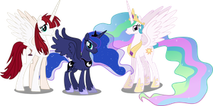 Celestia, Luna and Lauren Fausticorn by Vector-Brony