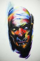 Dark Clown Acrylic... by WikkedOne