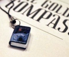 The Golden Compass Book Charm by MadHatterBata