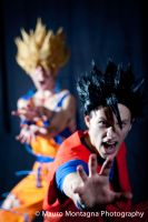 Goku and Gohan .:The power of Kame!:. by Alexcloudsquall