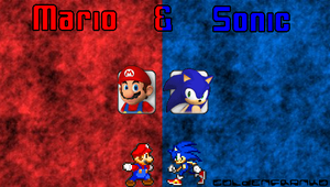 Mario and Sonic Wallpaper by GoldenfrankO