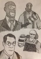 Team Fortress 2 Characters by FrankTheSixFootBunny
