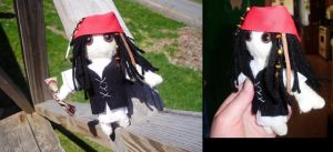 Captain Jack Sparrow Plushie by supermutts