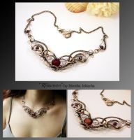 Rhiamon- wire wrapped copper necklace by mea00