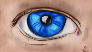 Staring Eye (painted) by lmd1984