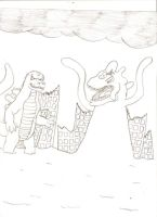 godzilla v.s. perfect chaos by mitcheta21