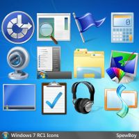 Windows 7 Official 256x256 Icons (ICO) by muckSponge