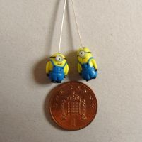two tiny clay minions by Stefimoose
