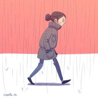 Walk cycle (GIF Animation) by Iraville