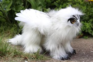 Snowy Owl Griffin artdoll by Creature-Cave