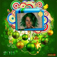 Frame with Christmas balls by Gala3d