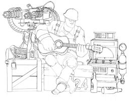 TF2 Engineer sketch by neilameane