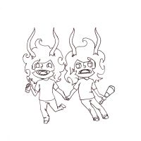 Gamzee drama line art by PsycoTwinLover