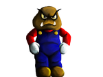 Goomba head Mario by pie-lord