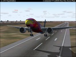 Continental 777-200 Peter Max by SpanStallion