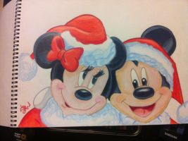 Mickey and Minnie christmas by unforgettable920