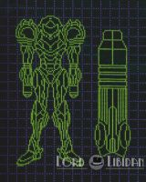 Metroid Power Suit And Cannon Blueprints X Stitch by LordLibidan
