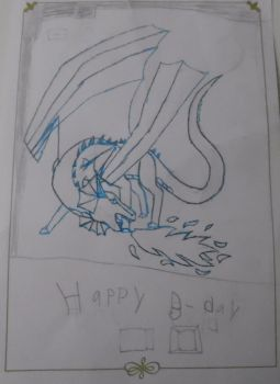 15th Birthday Drawing, Side 1/2 by SkyJewelPrime